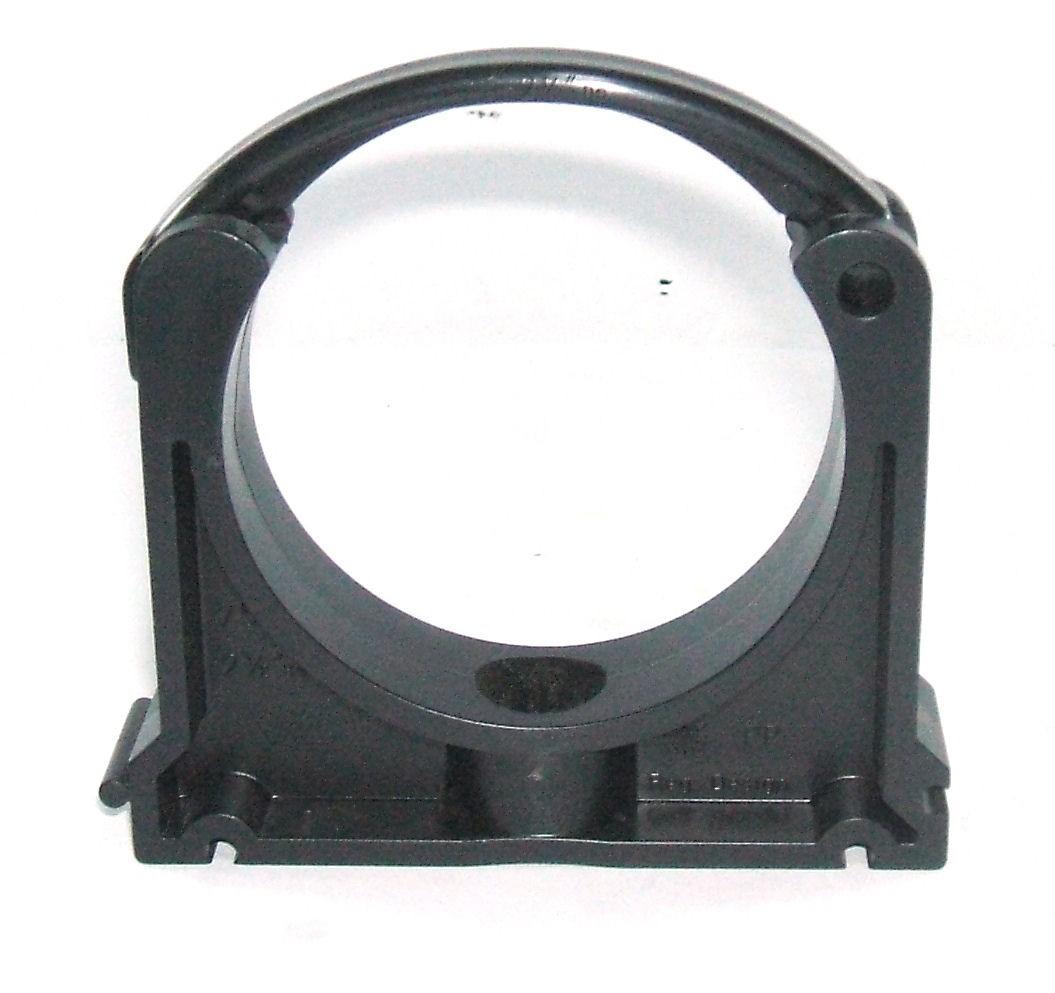 Grey pvc pressure pipe bracket clamp pipework fittings